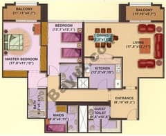 2 Bedrooms Apartments