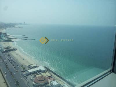 Commission Free Full Sea View 2 bedroom Apartment for Rent in Ajman Corniche Tower Ajman
