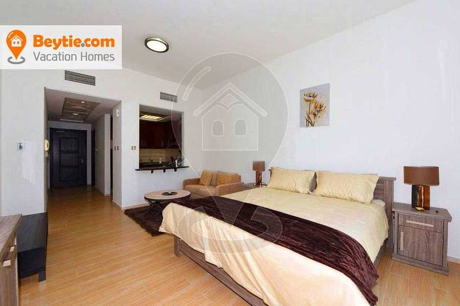 A Bright Fully Furnished Studio in MED48