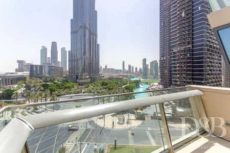 1 Bedroom Apartment for Rent in Downtown Dubai, Dubai - Full Burj View   Chiller Free   Vacant Now