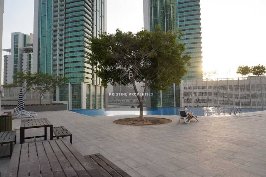 2 2 Bedroom Apartment For Rent at (Burooj View) Al Reem Island ( Sea View and Balcony)