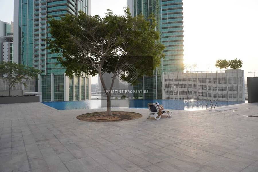 18 2 Bedroom Apartment For Rent at (Burooj View) Al Reem Island ( Sea View and Balcony)