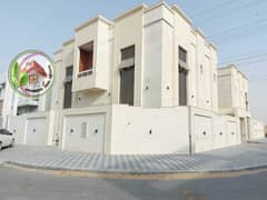 Own a villa in the most prestigious areas of Ajman, super deluxe finishing, very safe for you and your family, a modern design villa, close to the nei