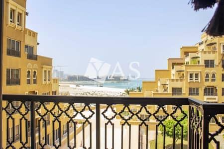 فلیٹ 1 غرفة نوم للايجار في جزيرة المرجان، رأس الخيمة - Partial beach and pool view | Fully furnished