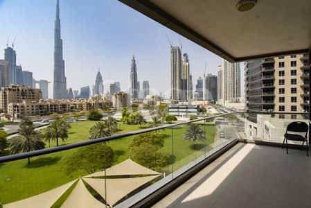 فلیٹ 2 غرفة نوم للبيع في وسط مدينة دبي، دبي - Full Burj Khalifa View I Huge Layout I Vacant