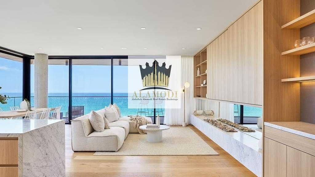luxury beach front 1 bedroom