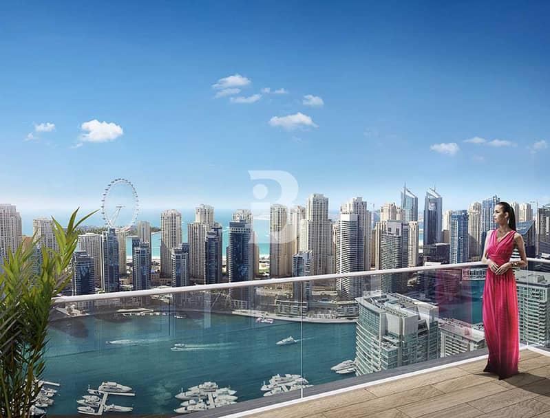 Premium Corner Dubai eye and Marina view