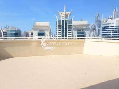 2 Bedroom Apartment for Sale in Jumeirah Lake Towers (JLT), Dubai - Marina View   Big Terrace   2BR Lakeshore tower