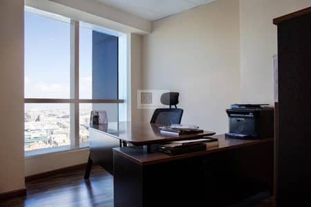 Fully furnished office space in Al barsha at -  AED 50,000 /year with one 1 month free .