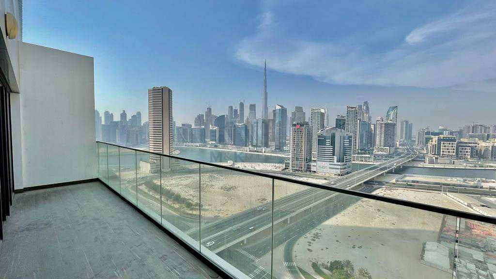Burj & Canal View   1 Month Free   High Floor