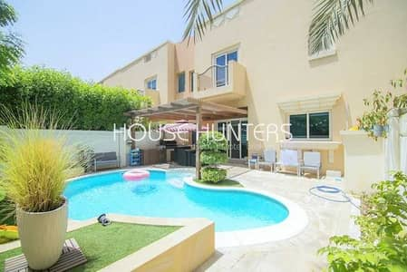 4 Bedroom Villa for Rent in Dubai Sports City, Dubai - Beautiful Townhouse with Private Pool in Victory Heights
