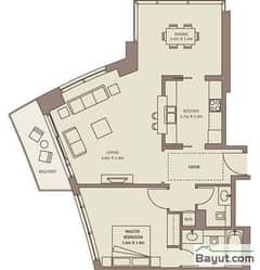 Typical Floors (4-26) 1 Bedroom Suite 4