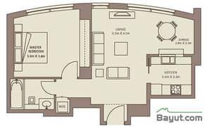 Typical Floors (4-26) 1 Bedroom Suite 5