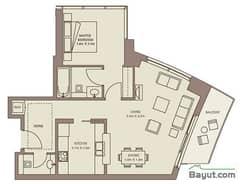 Typical Floors (4-26) 1 Bedroom Suite 6