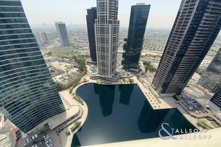 شقة 2 غرفة نوم للبيع في أبراج بحيرات الجميرا، دبي - Tenanted | High Floor | Two Bed l Maids