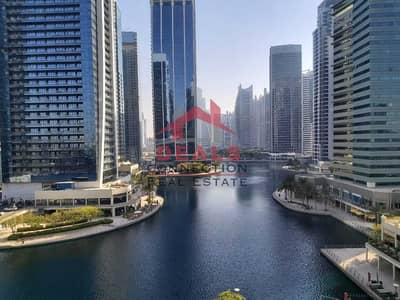 2 Bedroom Apartment for Rent in Jumeirah Lake Towers (JLT), Dubai - Well Maintained   Semi-Furnished   Full Lake View   2 Bedroom + Hall & Maid's Room