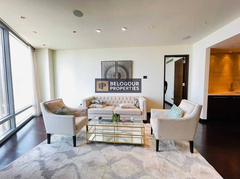 On Higher Floor | Fully Furnished 2 Bedroom+Maids | Downtown Views
