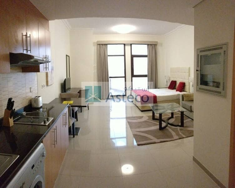 18 Luxuriant Living! Furnished Studio Balcony and Pool Views