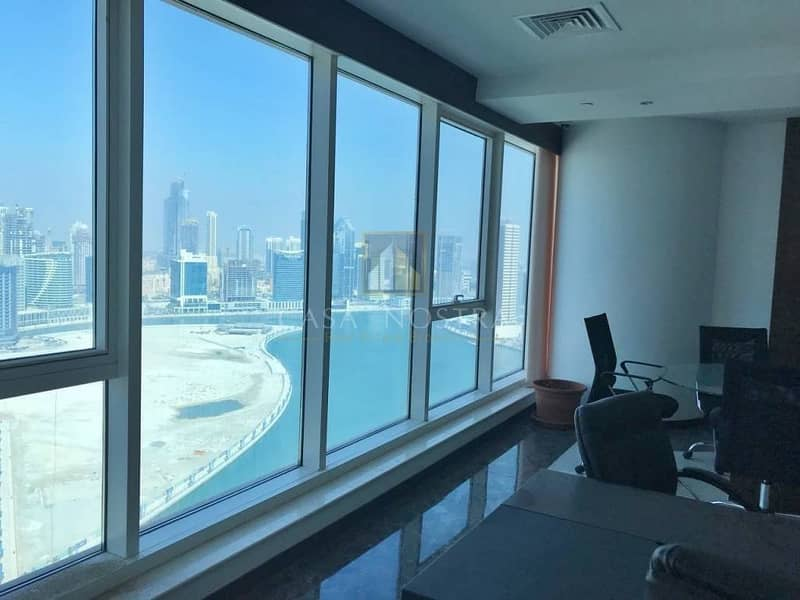 Fitted Office w/ Full Canal and Burj View