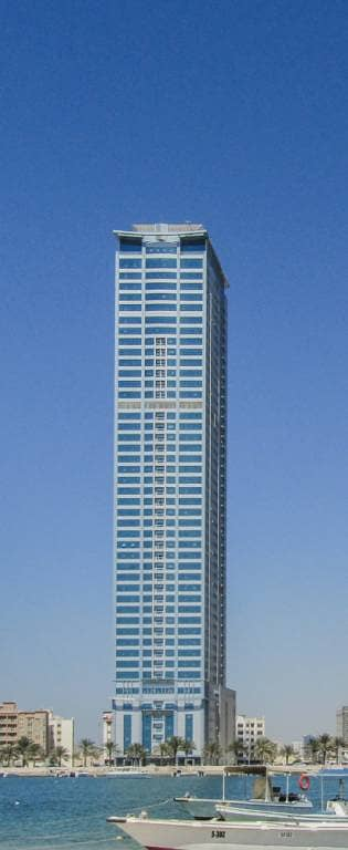 Flat No 1006 for 3 ( bedroom  hall ) Large Spaces  in New Tower ( Borj Al Saada 50 floor) in Sharjah
