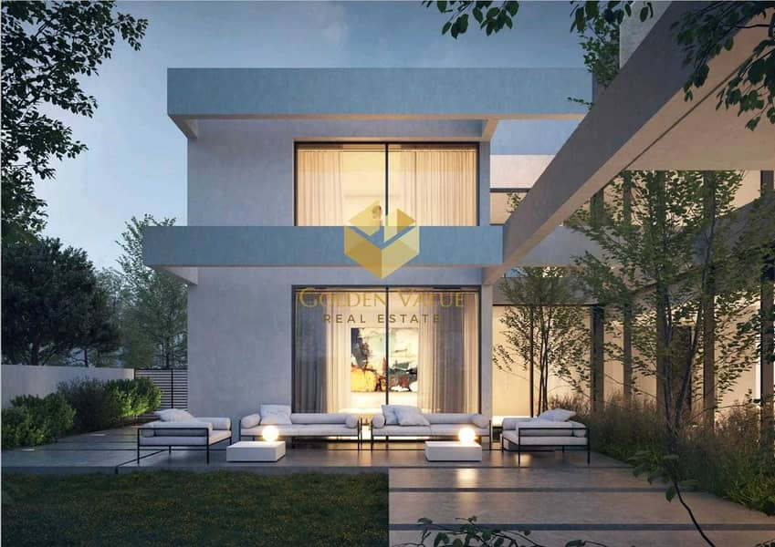 تملك فيلا 4 غرف بالشارقة  داخل المجمع الاخضر بجوار المول وبمقدم 5% والباقي بالاقساط الشهرية