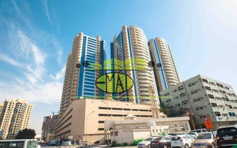 2 Bedroom Apartment for Rent in Ajman Downtown, Ajman - Horizon Towers:  2 Bed Hall   1700 sqft Lavish and spacious