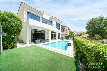 5 Bedroom Villa for Sale in Jumeirah Golf Estate, Dubai - Exclusive | Basement and Elevator | Golf View