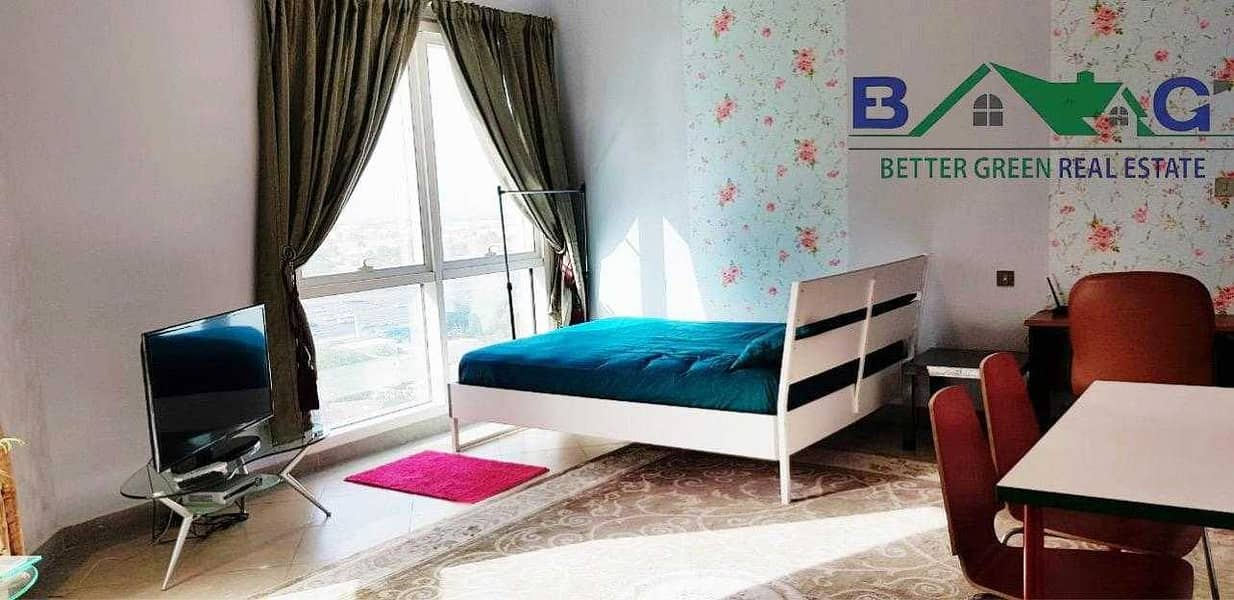 Amazing Furnished Studio Chiller Free Front of Metro Sea View