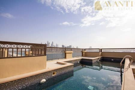 بنتهاوس 5 غرف نوم للايجار في نخلة جميرا، دبي - Exclusive Vacant Royal Penthouse in Fairmont North
