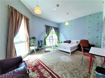Studio for Rent in Barsha Heights (Tecom), Dubai - Fully FURNISHED huge Studio CHILLER FREE front of metro