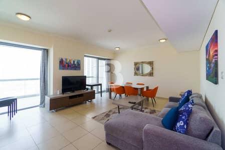 فلیٹ 2 غرفة نوم للبيع في وسط مدينة دبي، دبي - Sea Facing | Bright & Aesthetic | Fully Furnished