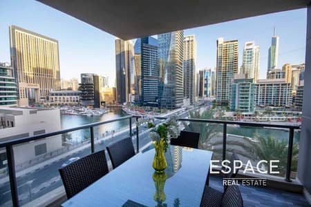 3 Bedroom Flat for Rent in Dubai Marina, Dubai - Upgraded   Fully Furnished   Marina View