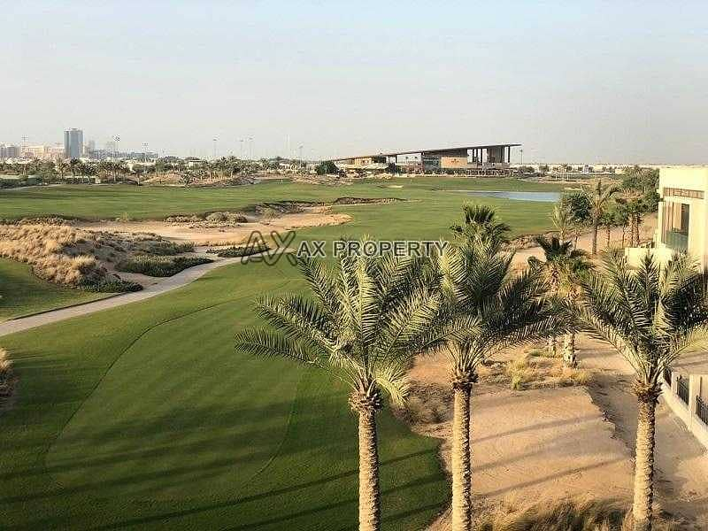 Golf facing plots for sale in Damac Hills   4 years payment plan