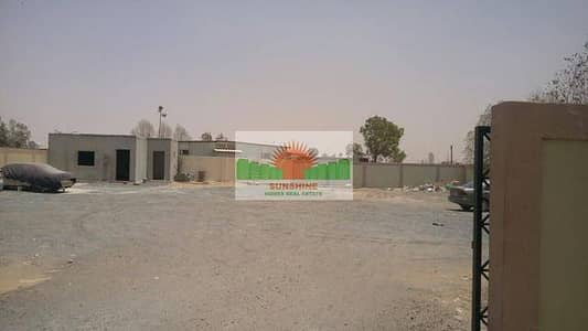 Plot for Rent in Al Saja, Sharjah - 15000sq.ft Open Land with Office Pantry  -  AED 180,000 /yr