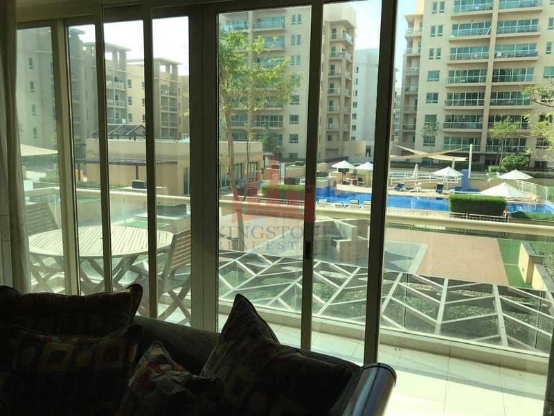 2 Bedrooms +Study Furnished Ghozlan Greens