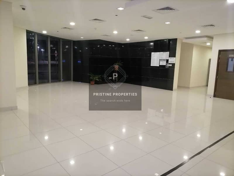 Balcony with community View  2 Bed Room and Maid room For Rent at Al Rawdah