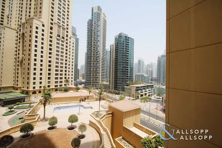 1 Bedroom Apartment for Rent in Jumeirah Beach Residence (JBR), Dubai - One Bedroom | Community Views | Vacant