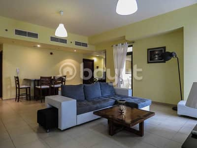 1 Bedroom Apartment for Rent in Jumeirah Beach Residence (JBR), Dubai - Beachfront/sleeps UP to 5 / next to tram station/can accommodate to 5