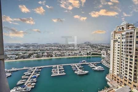 شقة 2 غرفة نوم للايجار في نخلة جميرا، دبي - Exclusive | Full Marina Views | Immaculate