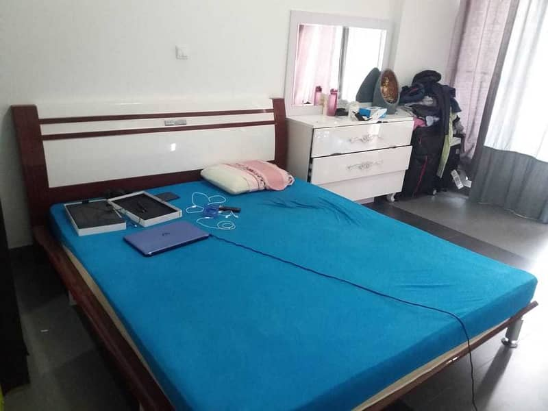 FULLY FURNISHED 1BHK FOR RENT IN 34K BY 4 CHEQUES IN SILICON OASIS