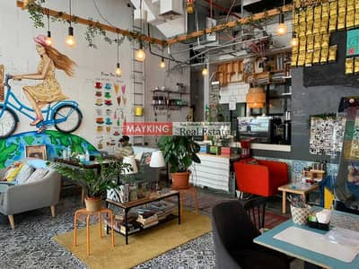 محل تجاري  للايجار في الخليج التجاري، دبي - Fitted Retail Shop with Cafe Business