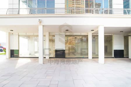 Shop for Rent in Jumeirah Lake Towers (JLT), Dubai - Vacant shell n core Retail Space/up to 12 cheques