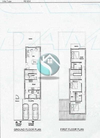 3 Bedroom Townhouse for Sale in DAMAC Hills 2 (Akoya Oxygen), Dubai - DAMAC AKEYO JUNIPER CLUSTER 3 BEDROOM PLUS MAID