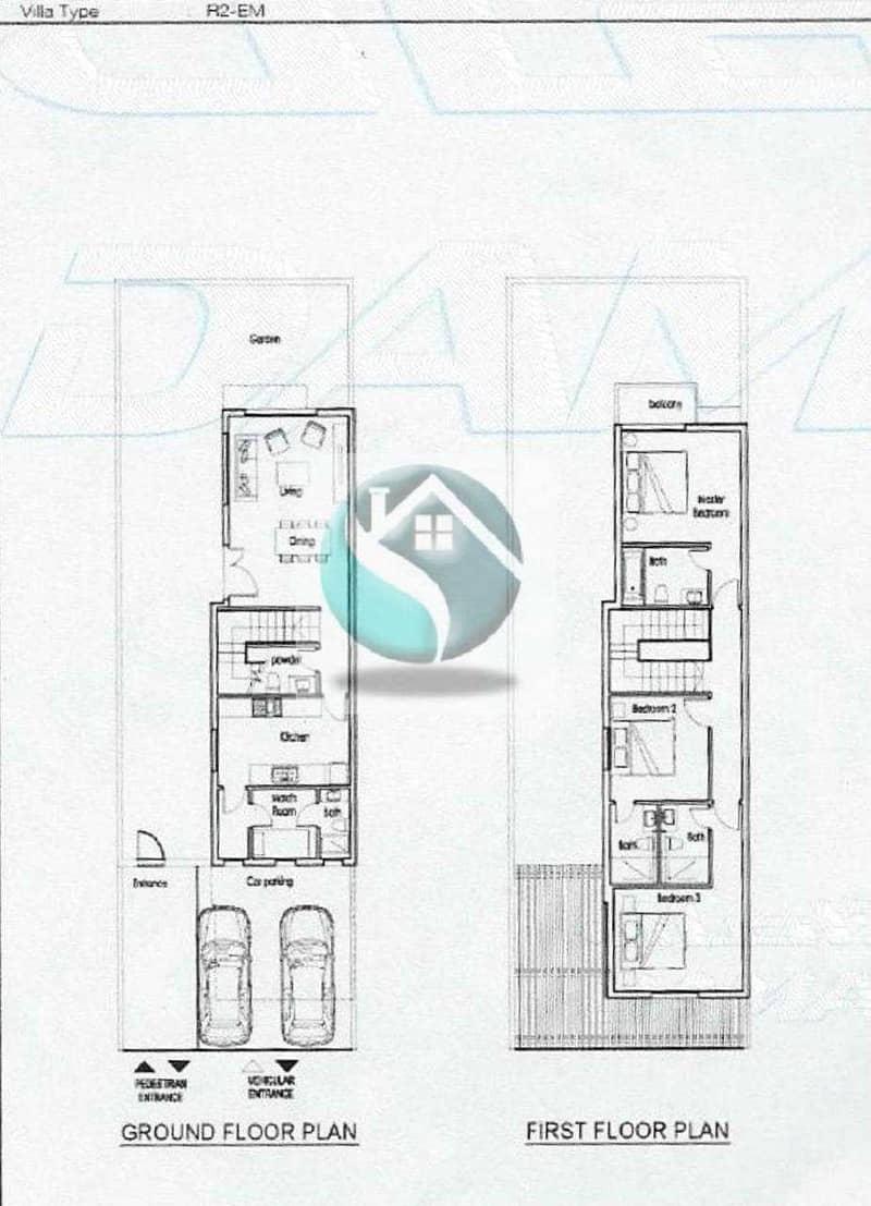 DAMAC AKEYO JUNIPER CLUSTER 3 BEDROOM PLUS MAID