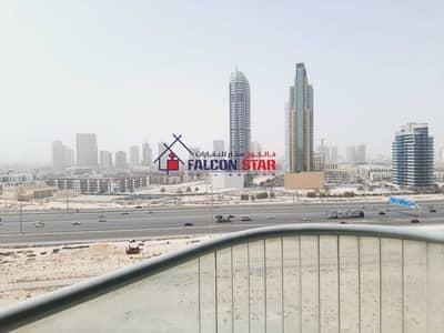 استوديو  للايجار في مدينة دبي الرياضية، دبي - BIGGEST SIZE 596 sq feet STUDIO WITH BALCONY   2500/- PER MONTH ONLY