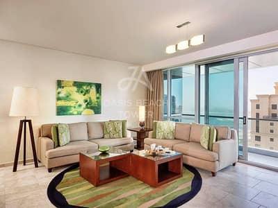 شقة فندقية 3 غرف نوم للايجار في جميرا بيتش ريزيدنس، دبي - BILLS INCLUDED | Dubai Eye View | Fully Serviced