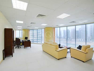 Office for Sale in Business Bay, Dubai - Fitted Office | Lake View | Business Tower