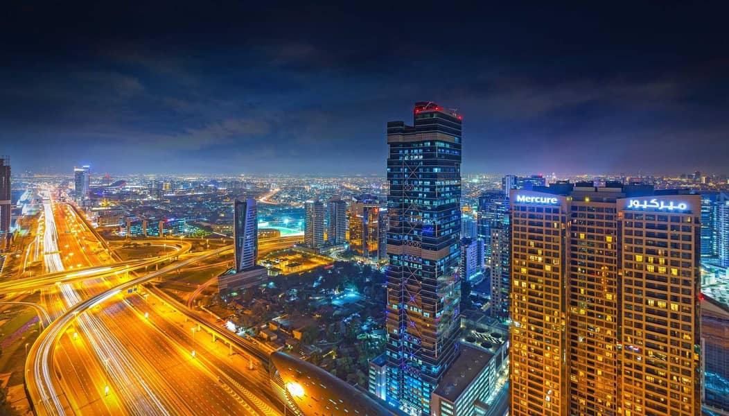 شقة في برج الجواهر دبي مدينة دبي للإنترنت 2 غرف 85000 درهم - 5234592