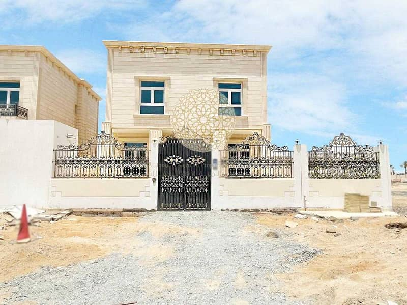 BRAND NEW STAND ALONE STONE FINISHING VILLA WITH 4 MASTER BEDROOM AND MAID ROOM FOR RENT IN MOHAMMED BIN ZAYED CITY