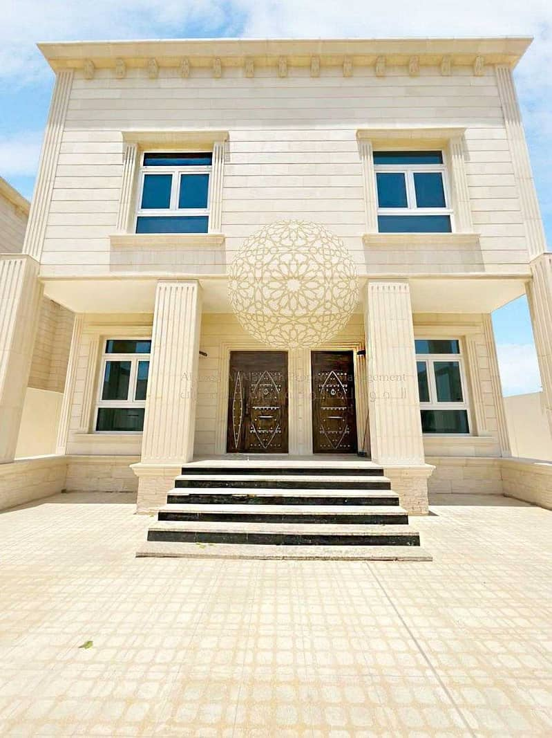 2 BRAND NEW STAND ALONE STONE FINISHING VILLA WITH 4 MASTER BEDROOM AND MAID ROOM FOR RENT IN MOHAMMED BIN ZAYED CITY